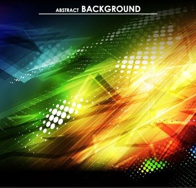 gorgeous bright halo background 01 vector
