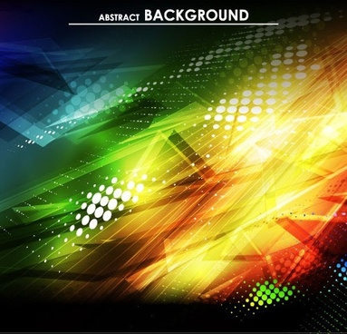 gorgeous bright halo background vector