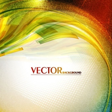 gorgeous bright halo background vector flow lines