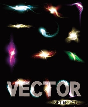 gorgeous bright lighting effects 03 vector
