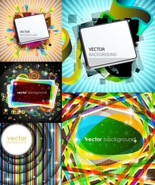 gorgeous bright rectangular graphics vector