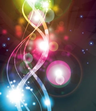 gorgeous bright starlight effects vector