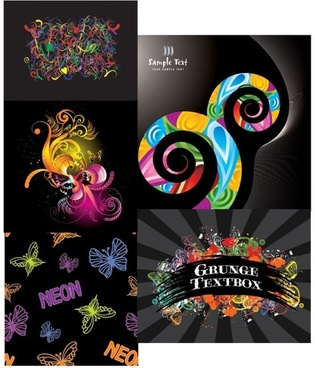 gorgeous butterfly style vector