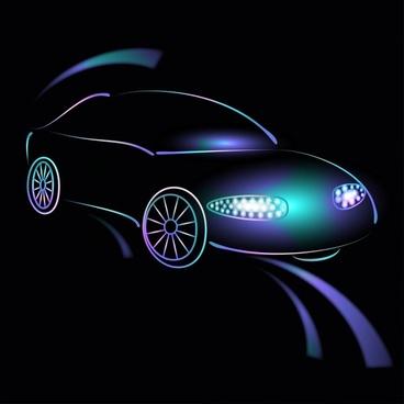 gorgeous car element vector