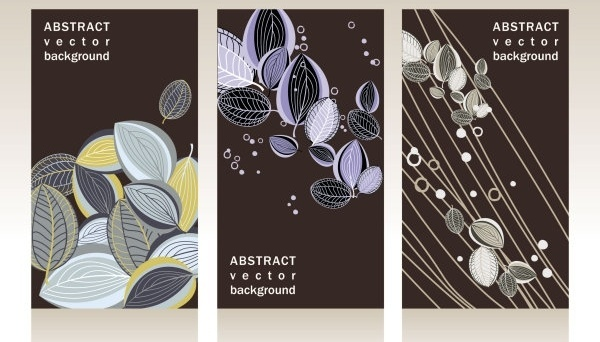 gorgeous card background 01 vector