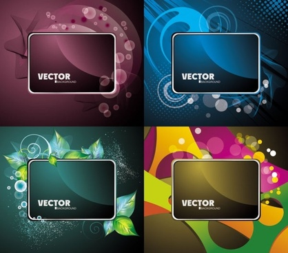 gorgeous card background 03 vector