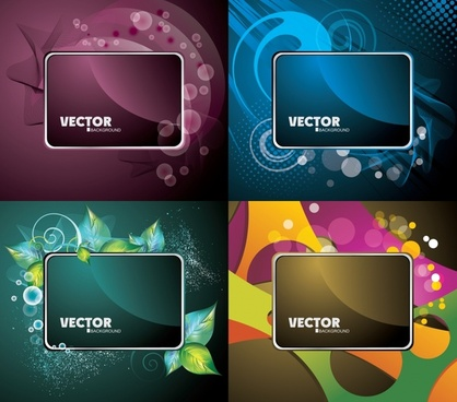 decorative background templates colored modern decor