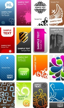 gorgeous card templates vector