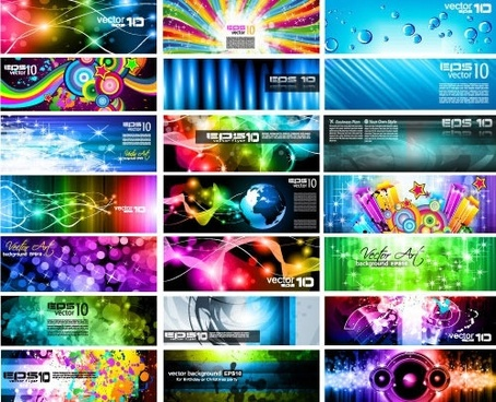 technology background templates modern colorful dynamic decor