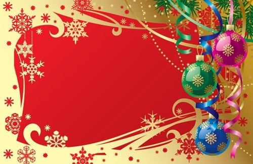 gorgeous christmas background 01 vector