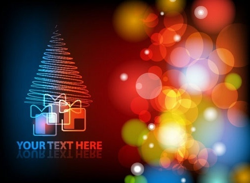 gorgeous christmas background 03 vector