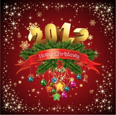 gorgeous christmas background vector