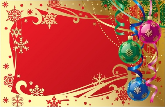gorgeous christmas ball with snowflakes vector