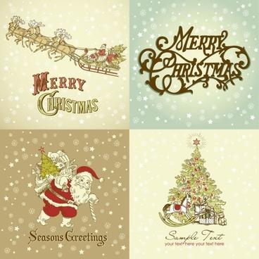 gorgeous christmas designs vector