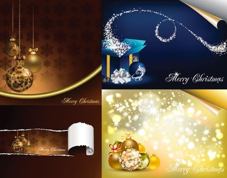christmas banner templates colorful elegant baubles decor