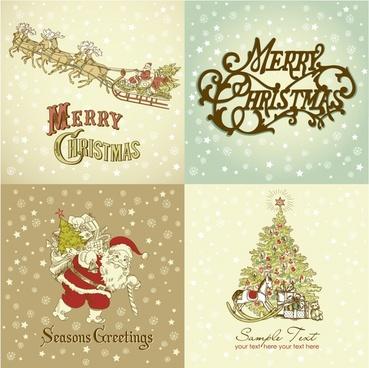 gorgeous christmas santa claus vector pattern