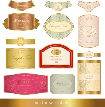 gorgeous classic bottle stickers vector