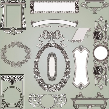 decorative elements templates elegant classical european design