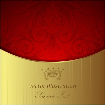 decorative background golden red luxury elegant european decor