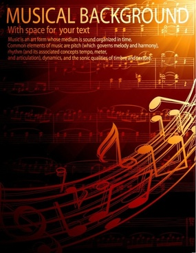 gorgeous classical music background 02 vector