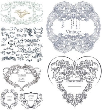 gorgeous classical pattern vector