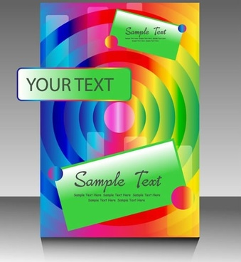 booklet cover template modern colorful concentric circles shapes