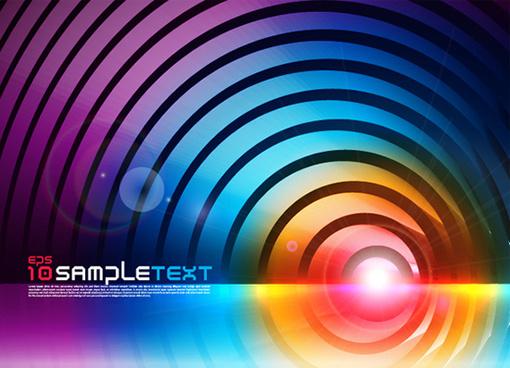 gorgeous color background vector set