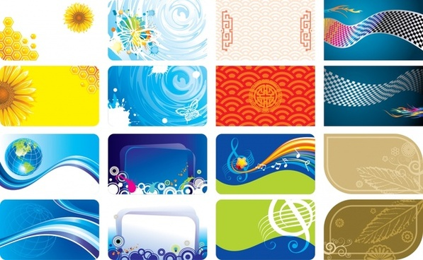 decorative card background templates colorful modern classic design
