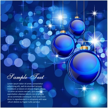 gorgeous colorful christmas ball background vector