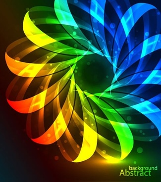 gorgeous colorful dazzling vector