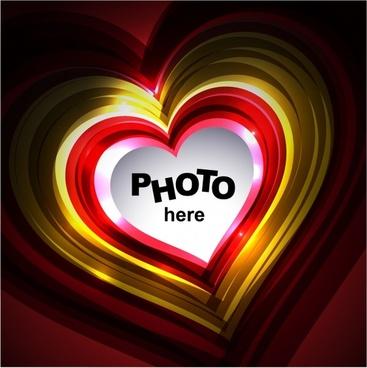 romance background template shiny sparkling hearts shape layout