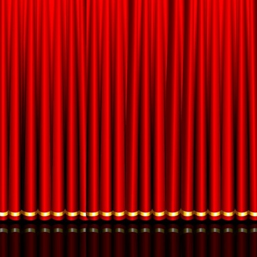 gorgeous curtain of red 03 vector