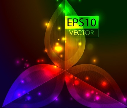 gorgeous dazzling bright spot vector