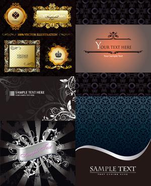 gorgeous decorative background design elements