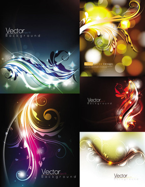 gorgeous decorative pattern background illustration design vector