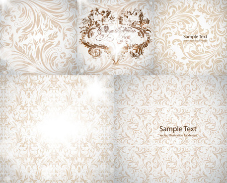 gorgeous decorative pattern background vector
