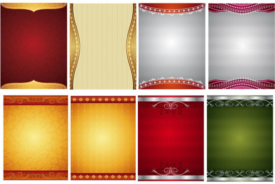 gorgeous decorative pattern background vector set