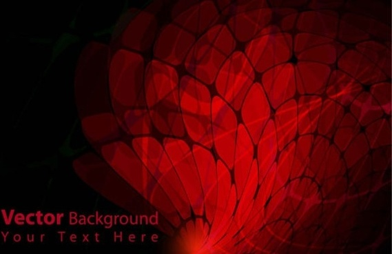 gorgeous dynamic red background box 02 vector