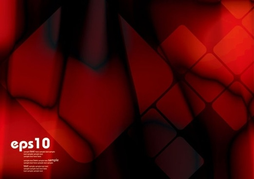gorgeous dynamic red background box 05 vector