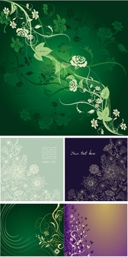 gorgeous elegant mysterious patterns vector