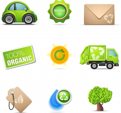 gorgeous environmental icons vector