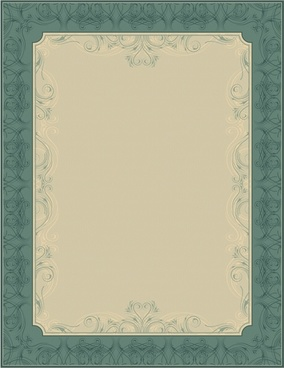 certificate border template elegant retro european seamless decor