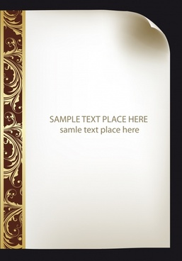 certificate border template elegant classic symmetric curves decor