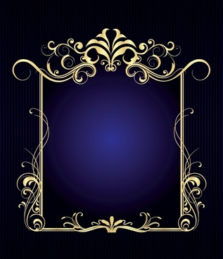 decorative border template shiny golden european elegant symmetric