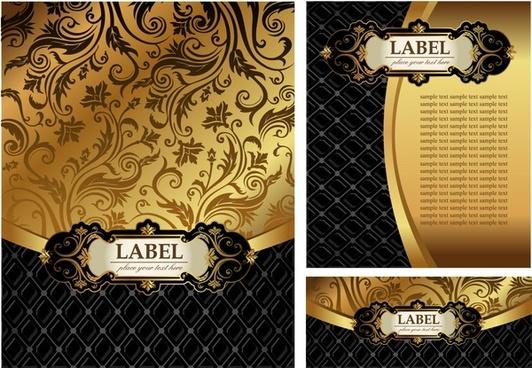 decorative cover templates luxury classic golden black decor