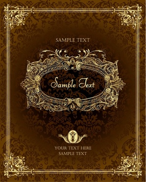 cover templates retro elegant formal luxury brown decor