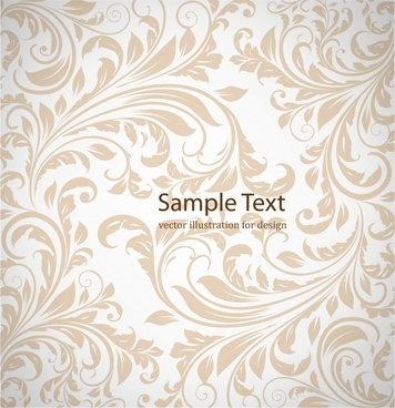 european pattern template classical leaves decor curves design