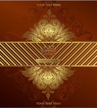 vip card background gorgeous luxury royal symmetric decor
