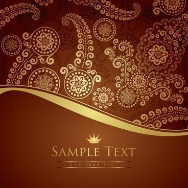 decorative background traditional floral decor elegant design