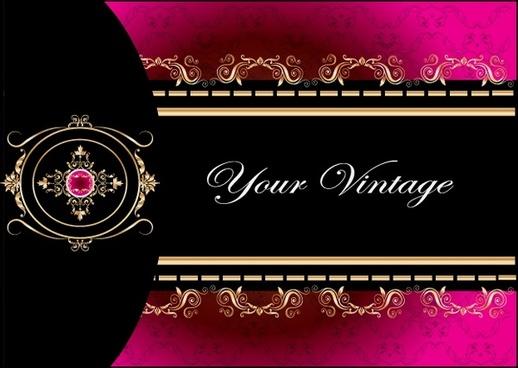 vip card cover elegant european symmetric decor
